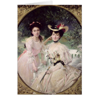 Madame Collas and her Daughter, Giselle, 1903 Greeting Cards