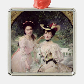 Madame Collas and her Daughter, Giselle, 1903 Metal Ornament