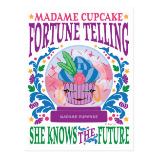 Madame Cupcake Fortune Telling Postcard