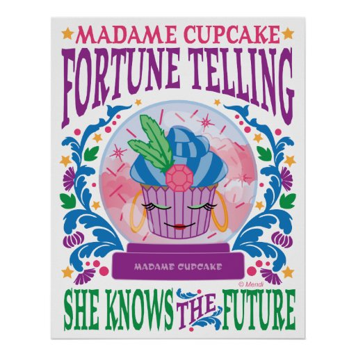 Madame Cupcake Fortune Telling Poster