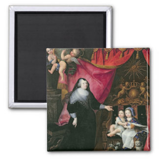 Madame de Lansac  and the Children of France 2 Inch Square Magnet