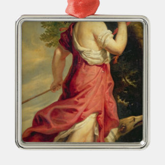 Madame de Montespan as Diana the Huntress Metal Ornament