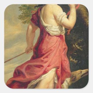 Madame de Montespan as Diana the Huntress Square Sticker