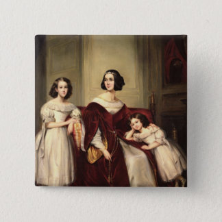Madame de Nonjon and her Two Daughters, 1839 Button