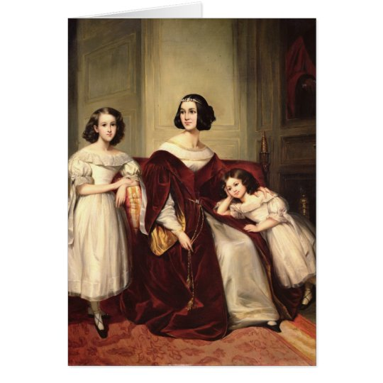 Madame de Nonjon and her Two Daughters, 1839 Card
