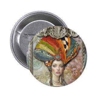Madame de Paris, altered art original design 2 Inch Round Button
