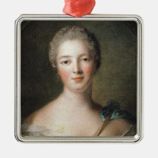 Madame de Pompadour  1748 Square Metal Christmas Ornament