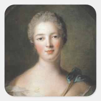 Madame de Pompadour  1748 Square Sticker