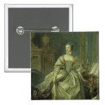 Madame de Pompadour 2 Inch Square Button