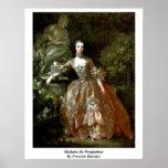 Madame De Pompadour By Francois Boucher Poster