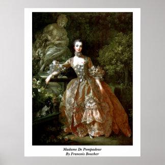 Madame de Pompadour de Francois Boucher Póster