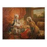 Madame de Pompadour en el papel del adivino Tarjetas Postales