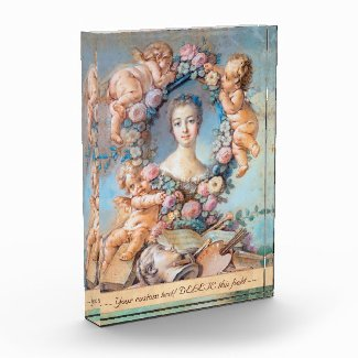 Madame de Pompadour François Boucher rococo lady Acrylic Award