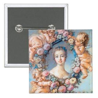 Madame de Pompadour François Boucher rococo lady Button