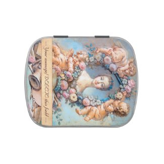 Madame de Pompadour François Boucher rococo lady Jelly Belly Candy Tins