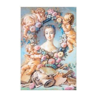 Madame de Pompadour François Boucher rococo lady Canvas Print