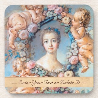 Madame de Pompadour François Boucher rococo lady Beverage Coaster