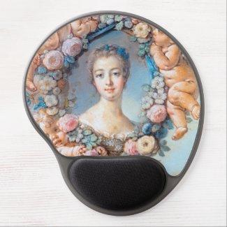 Madame de Pompadour François Boucher rococo lady Gel Mousepads
