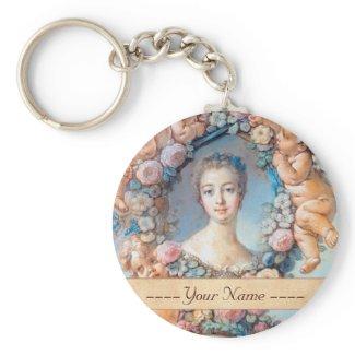 Madame de Pompadour François Boucher rococo lady Keychains