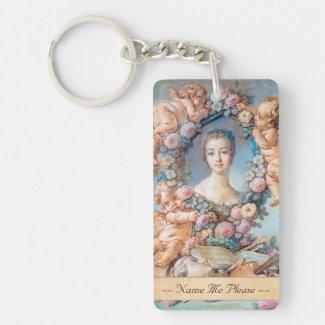 Madame de Pompadour François Boucher rococo lady Acrylic Key Chains