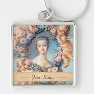 Madame de Pompadour François Boucher rococo lady Key Chain