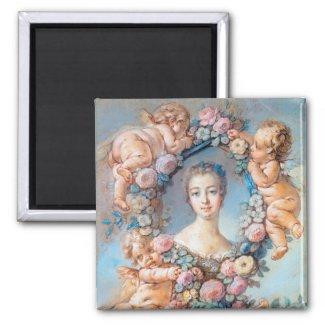 Madame de Pompadour François Boucher rococo lady Magnets