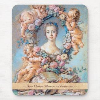 Madame de Pompadour François Boucher rococo lady Mousepad