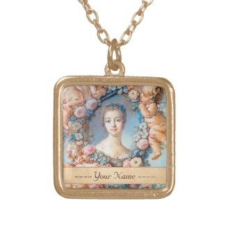 Madame de Pompadour François Boucher rococo lady Custom Jewelry