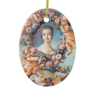 Madame de Pompadour François Boucher rococo lady Ornaments