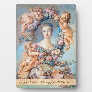 Madame de Pompadour François Boucher rococo lady Plaque