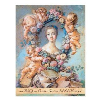 Madame de Pompadour François Boucher rococo lady Postcard