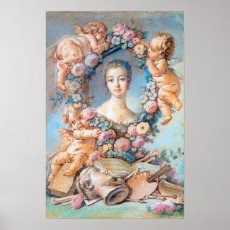 Madame de Pompadour François Boucher rococo lady Print