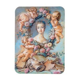 Madame de Pompadour François Boucher rococo lady Magnet