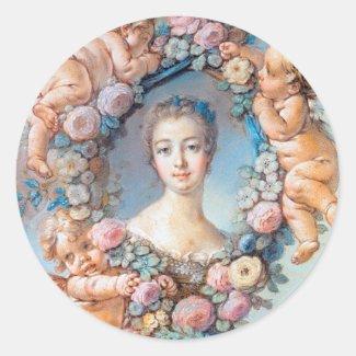 Madame de Pompadour François Boucher rococo lady Sticker