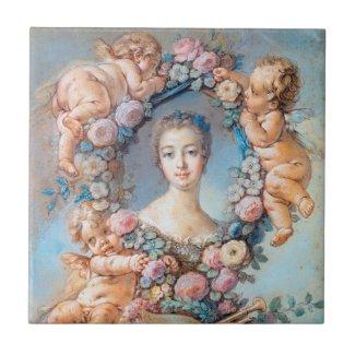 Madame de Pompadour François Boucher rococo lady Ceramic Tile