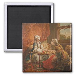 Madame de Pompadour in the role of fortuneteller Magnet