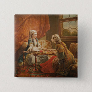 Madame de Pompadour in the role of fortuneteller Pinback Button