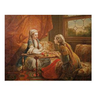 Madame de Pompadour in the role of fortuneteller Postcard