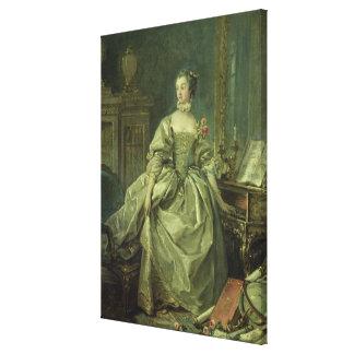 Madame de Pompadour Impresión En Lona Estirada