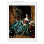 Madame De Pompadour Portrait By Francois Boucher Card