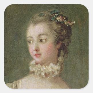 Madame de Pompadour Square Sticker