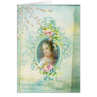 Madame de Pompadour Versalles Passionannte Tarjeta De Felicitación