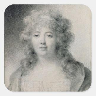 Madame de Stael  1810 Square Sticker