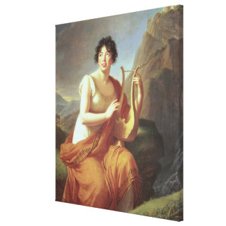 Madame de Stael as Corinne, 1809 Canvas Print