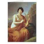 Madame de Stael as Corinne, 1809 Card