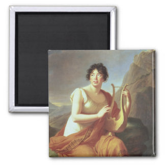 Madame de Stael as Corinne, 1809 Magnet