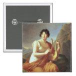 Madame de Stael as Corinne, 1809 Pinback Button