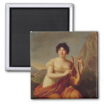 Madame de Stael as Corinne 2 Inch Square Magnet