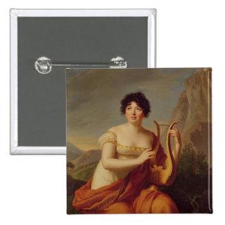 Madame de Stael as Corinne Pinback Button