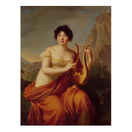 Madame de Stael as Corinne Postcard